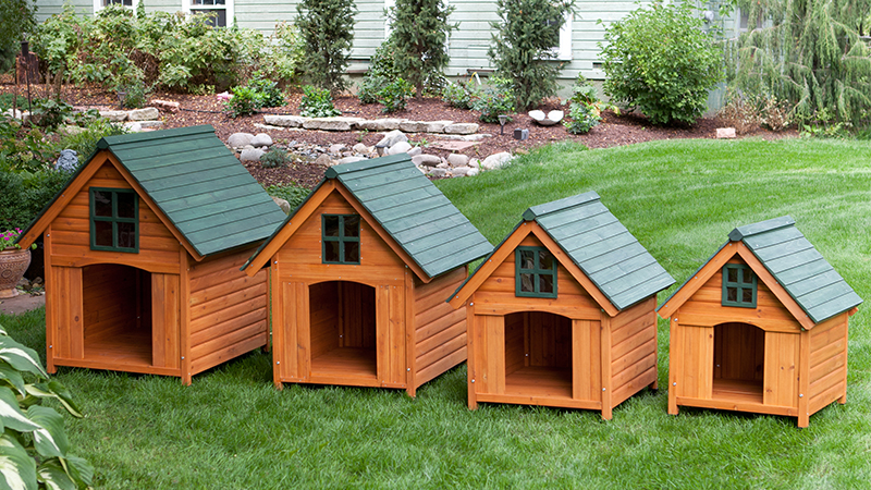 How do you size a doghouse