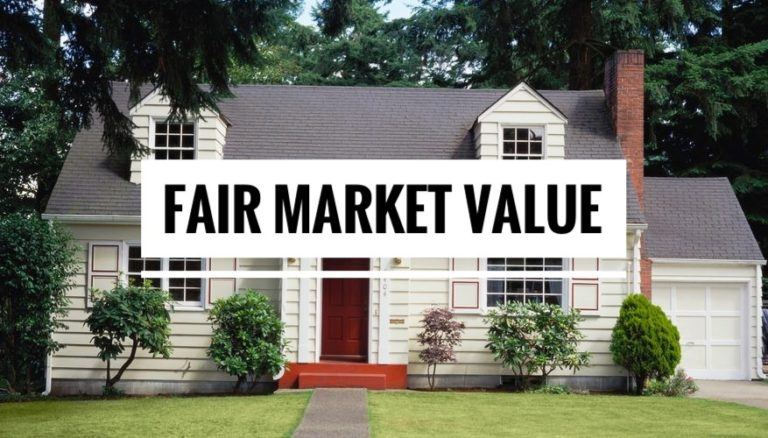 How is fair market value determined in real estate